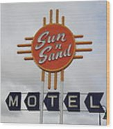 Route 66 - Santa Rosa New Mexico Wood Print by Frank Romeo