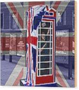 Royal Telephone Box Wood Print by David French