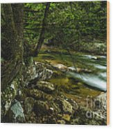 Rushing Mountain Stream Wood Print