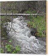 Rushing River Wood Print by Yvette Pichette