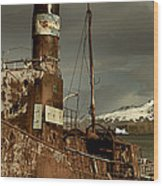 Rusted Whaling Boats Wood Print by Amanda Stadther