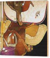 2 Saddles Bucket 14592 Wood Print