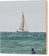 Sailing In California Wood Print