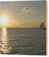 Sailing Into The Sunset - Key West Wood Print