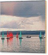 Sailing On Marine Lake A Reflection Wood Print