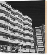 Salou Waterfront Properties On The Costa Dorada Catalonia Spain Wood Print