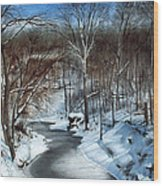 Same Creek Different Place Wood Print by Denny Dowdy