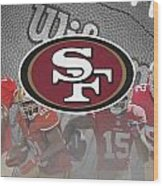 San Francisco 49ers Wood Print by Joe Hamilton
