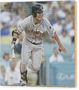 San Francisco Giants V Los Angeles Wood Print