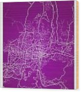 San Salvador Street Map - San Salvador El Salvador Road Map Art  Wood Print