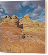 Sandstone Vermillion Cliffs N Wood Print