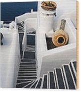 Santorini Steps Wood Print