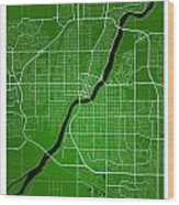 Saskatoon Street Map - Saskatoon Canada Road Map Art On Colored  Wood Print