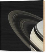 Saturn's Rings Wood Print