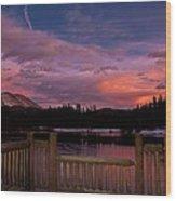 Sawmill Lake Sunset Wood Print by Michael J Bauer