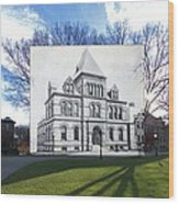 Sayles Hall At Brown University In Providence Rhode Island Wood Print