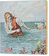 Scene From Gullivers Travels Wood Print