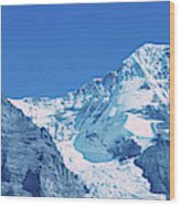 Scenic View Of Eiger And Monch Mountain Wood Print