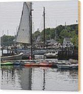 Schooner Camden Harbor - Maine Wood Print