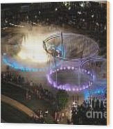 D101l-216 Scioto Mile Riverfront Park Fountain Photo Wood Print