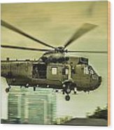 Sea King Helicopter Wood Print