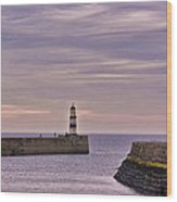 Seaham Harbour Wood Print
