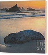Seastacks, Oregon Coast Wood Print