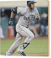 Seattle Mariners V Oakland Athletics Wood Print