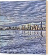 Seattle Skyline Cityscape Wood Print