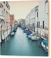 Secluded Canal In Venice Wood Print