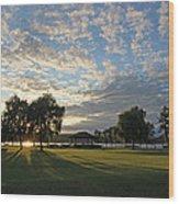 September Sky In Cazenovia Wood Print