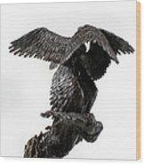 Seraph Angel A Religious Bronze Sculpture By Adam Long Wood Print