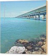 Seven Mile Bridge-1 Wood Print
