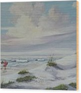 Shadows In The Sand Dunes Wood Print