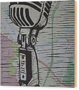 Shure 55s On Map Wood Print by William Cauthern