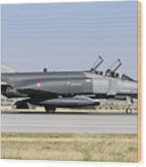 Side View Of A Turkish Air Force Wood Print