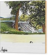 Silver Lake Mill -summer Wood Print