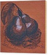 Simply Pears Wood Print