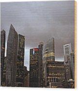 Singapore Cityscape Wood Print