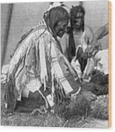 Sioux Medicine Man, C1907 Wood Print