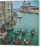 Six Gondolas Wood Print