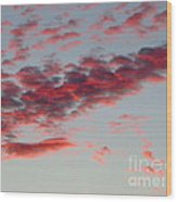 Sky Full Of Fire. Photo Taken In Ft. Myers Florida At Sunset. Wood Print