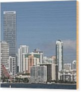 Skyline Miami Wood Print