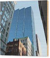 Skyscrapers In A City, Boston Wood Print