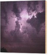 Small But Eruptive Cell North Of Kearney Wood Print