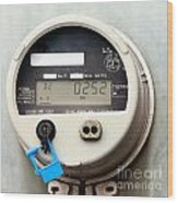 Smart Grid Residential Digital Power Supply Meter Wood Print