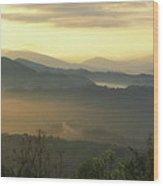 Smoky Mountain Sunrise Wood Print