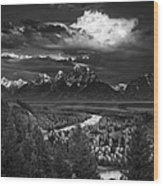 Snake River Overlook Wood Print by Andrew Soundarajan