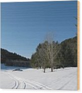 Snowmobile Tracks Wood Print