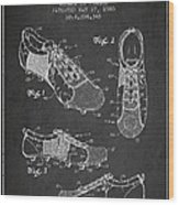 Soccershoe Patent From 1980 Wood Print